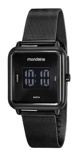 Relógio Mondaine Digital C/ Caixa E Pulseira Preta