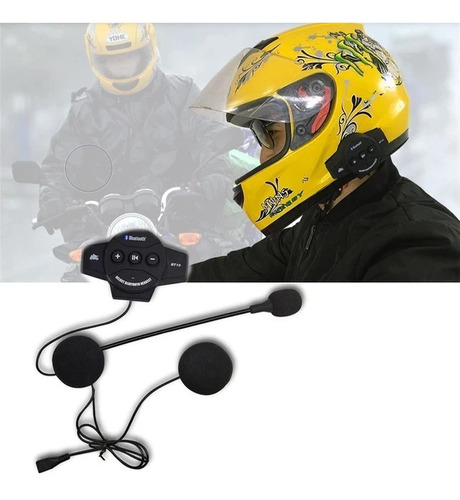 Intercomunicador Bluetooth Casco Moto