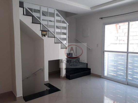 Casa Com 2 Dormitórios Para Alugar, 88 M² Por R$ 2.200/mês - Macuco - Santos/sp - Ca1752