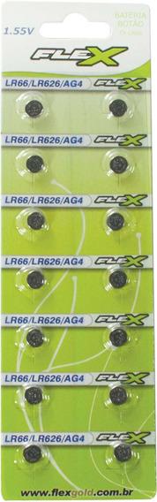 3 Pilha Bateria Botao Lr66 1.55v. Flex Ct.c/14