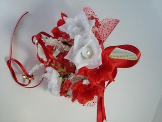 Porta Alianças Mini Buquê Flores Noivos Casamento Eventos