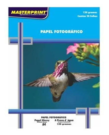 Papel Fotografico Masterprint 120g A4 200fls