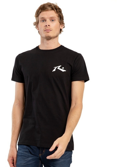 Remera Rusty One Hit Competition Negro - Hombre