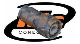 Lote 10 Conectores Tnc Macho Reto Para Cabo Rg/rgc-58 Tm-1