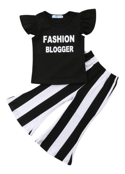 Conjunto Menina Fashion Roupa Mini Blogueira