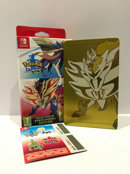 Steelbook Pokemon Sword And Shield + Dlc + Caixa Sem Jogo