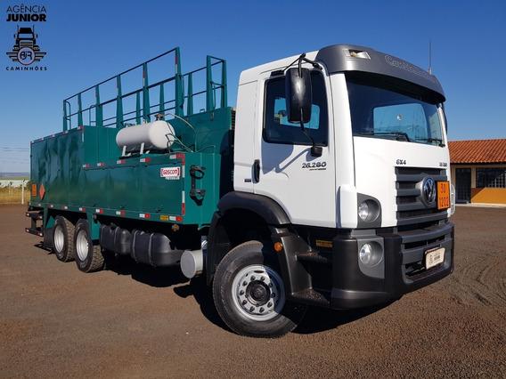Caminhão Traçado Comboio Gascom Vw 26280 2014 / Raridade