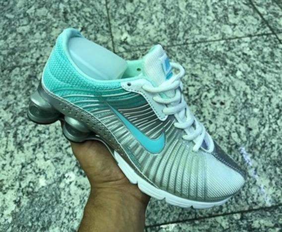 Tenis Nike Shox Zoom Prata/verde Agua Nº38 Original Na Caixa