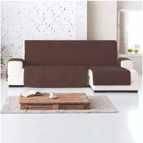 Imagen 1 de 2 de Protector Sofa L Derecha Chaise Longue Normal Cafe - Camel
