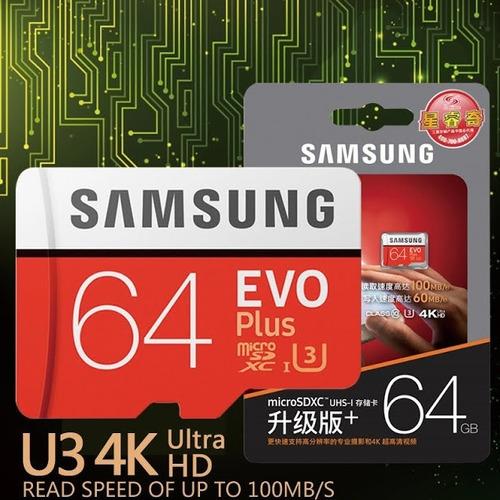 Cartão Samsung Micro Sdxc Evo 64gb 100mb/s Uhs-1 Sd Original