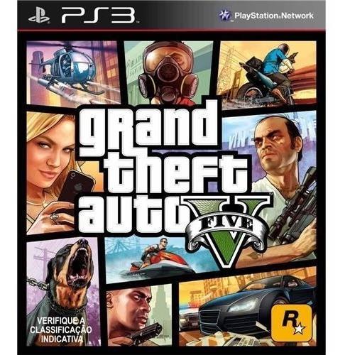 Jogo Gta V Ps3 - Playstation 3 - Gta 5 - Mídia Física