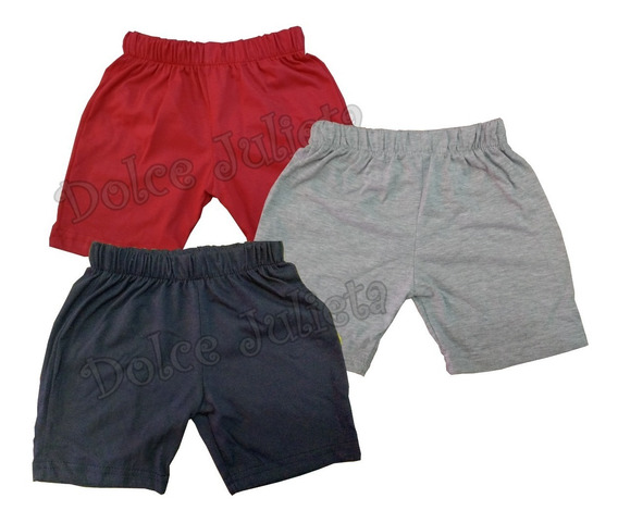 Pack X 3 Shorts Colegial 100% Algodon Jersey Niños T4-14