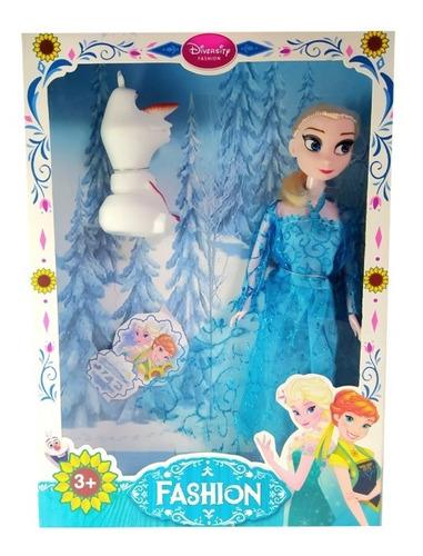 Muñeca Frozen Elsa Juguete Para Niñas Divertido 30 Cm + Olaf