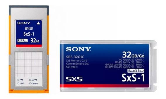 Cartão Sxs Para Câmera Sony 32gb (sbs-32g1c) Versão Rápida C