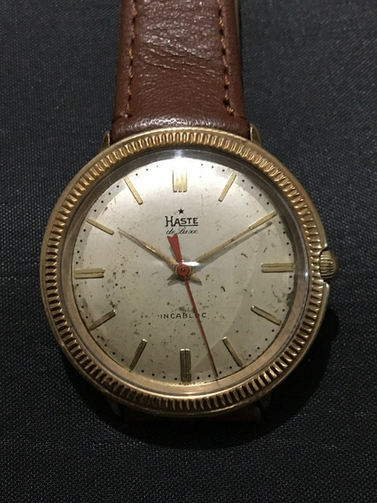 Reloj Haste De Luxe Gold Coin Vintage De Coleccion