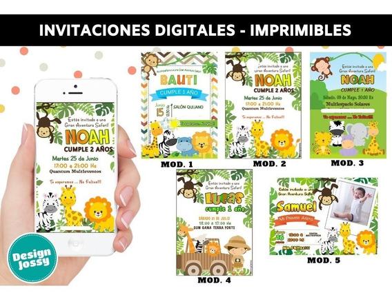 Invitaciones Digitales Envíalas Por Whatsapp Safari Selva