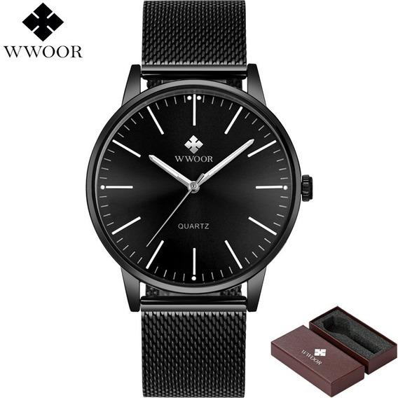 Relógio De Pulso Wwoor 8832 Masculino Clássico Luxo Original