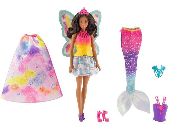 Muñeca Barbie Con Accesorios Mattel Dreamtopia Hada Arcoiris