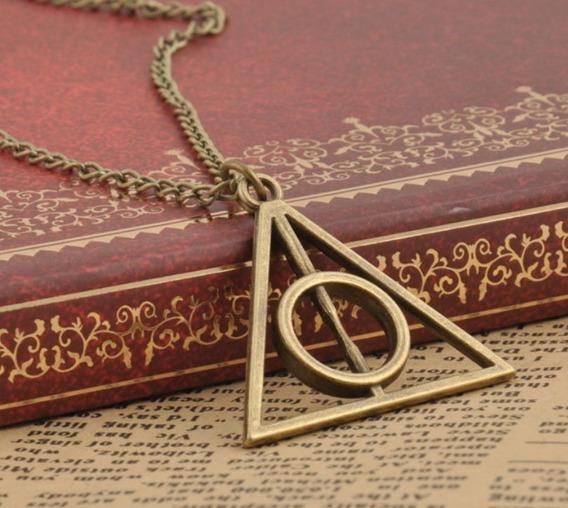 Pingente Relíquias Da Morte Triangulo Ouro Velho