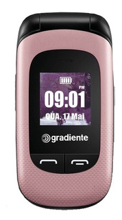 Celular Flip Gradiente Neo.s105r - Rosa