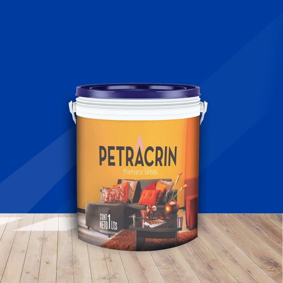 Petracrin Pintura Latex Exterior Color Azul X 1 L