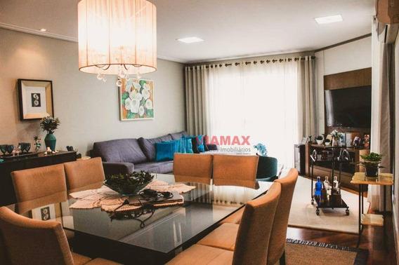 Apartamento Com 4 Dormitórios À Venda, 180 M² Por R$ 1.295.000 - Jardim São Dimas - São José Dos Campos/sp - Ap2714