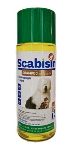 Shampoo Scabisin 250ml Perro Antipulgas Garrapatas Piojos