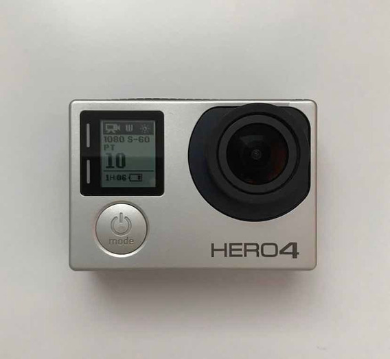 Gopro Hero 4 Silver + Case + Dome + Bastões + Suction Cup