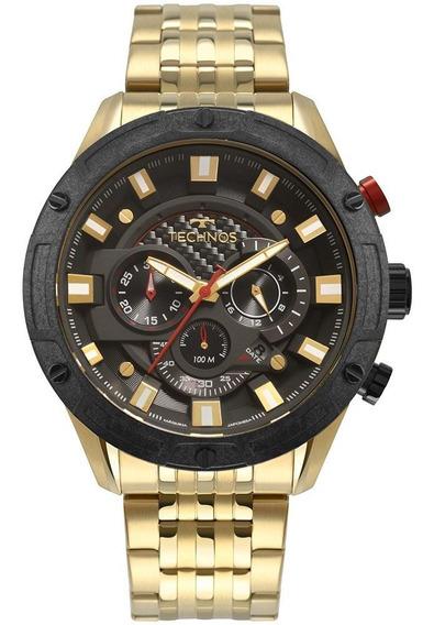 Relógio Masculino Technos Carbon Dourado Js25ce/4p