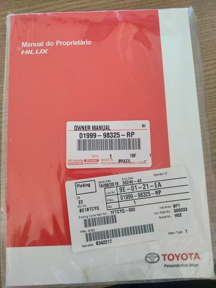 Manual Proprietário Toyota Hilux 2011/2015 Novo