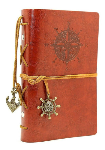 Leather Writing Journal Notebook, Evz 7 Inches Vintage Nauti