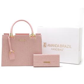 Bolsa Feminina Castelo Amanda Brazil 6 Cores Disponíveis !