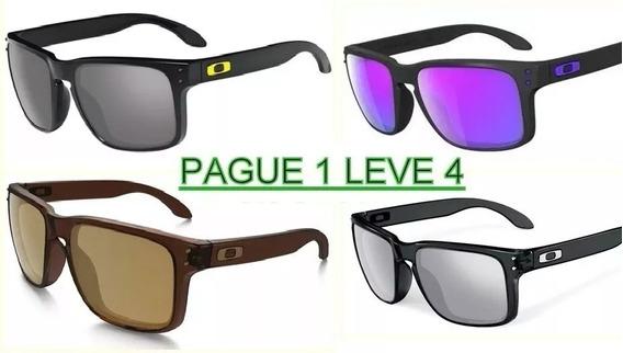 Kit 4 Óculos Masculino Polarizado Hlbrok Quadrado Valentino