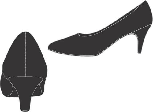 Imagem 1 de 3 de Uniforme Mil: Sapato Fem. Salto Médio 5cm Fino