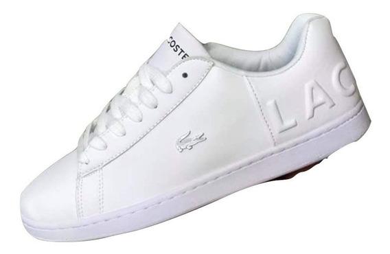 Tenis Lacoste Evo Carnaby Para Caballero Color Blanco