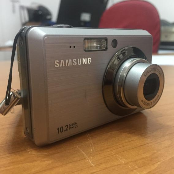 Câmera Digital Samsung Sl102 + Bateria + Cabo + Fonte