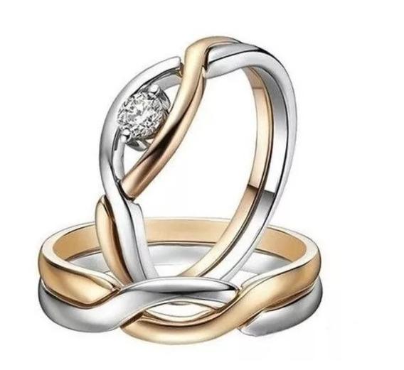 Alianças De Casamento Único Amor Em Ouro 18k Mais Diamantes
