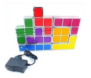 Lampara Led Tetris 7 Luces Decorativas Gadget Regalo Gamer
