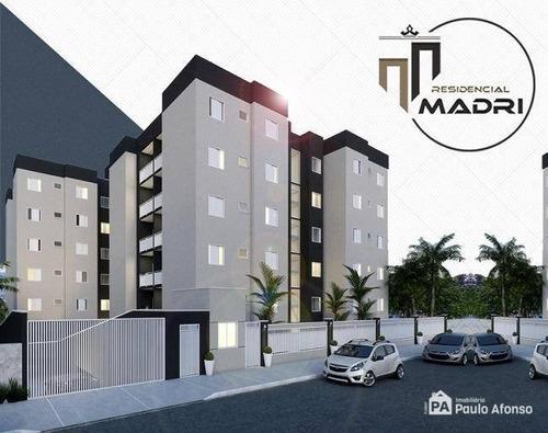 Apartamento Com 2 Dormitórios À Venda, 65 M² Por R$ 192.850,00 - Jardim Das Azaléias - Poços De Caldas/mg - Ap0054