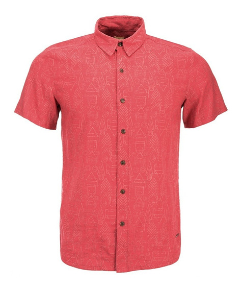 Camisa Hombre One Way Short Sleeve Shirt Coral Lippi