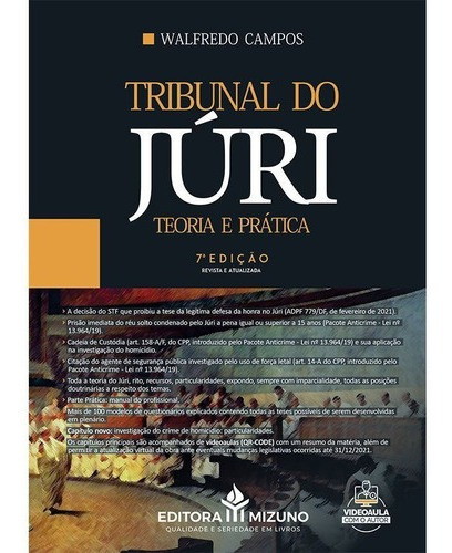 Imagem 1 de 3 de Livro Tribunal Do Júri Teoria E Prática Pacote Anticrime 7ed