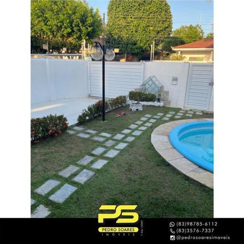 Casa Com 4 Dormitórios À Venda, 220 M² Por R$ 915.000 - Estados - João Pessoa/pb - Ca0940