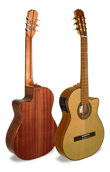 Guitarra Criolla La Alpujarra 83 Kec - Con Eq - Cuotas