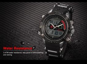 Relógio Shark Sh178 Pulseira Silicone, Luxo, 3 Atm