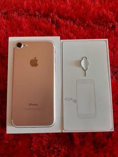 iPhone 7 Rose 32g Um Ano De Uso- Acompanha 7 Capas