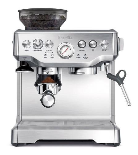 Breville Bes870xl Cafetera Dual Espresso Molino Espumador