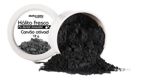 Pó Dental Clareador Com Carvão Ativado Hálito Fresco 12g