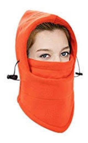 Imagen 1 de 3 de Mascara Termica Balaclava Naranja 6en1 Bufanda Moto Frio