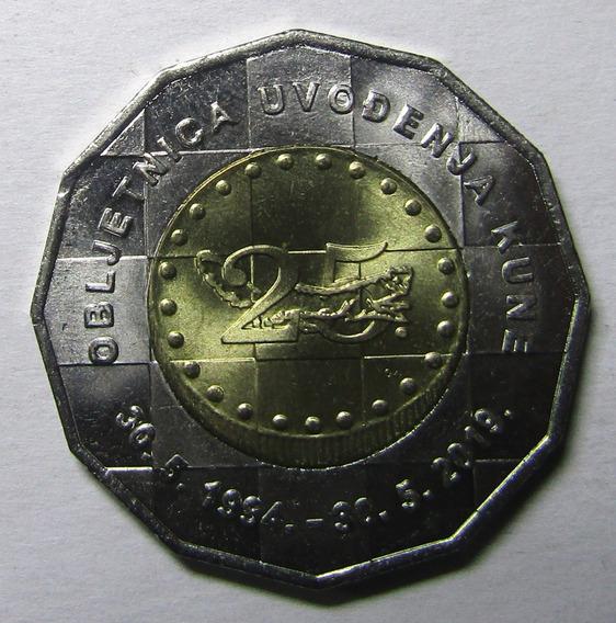Croacia 25 Kuna 2019 Bimetalica 25 Aniversario De La Moneda