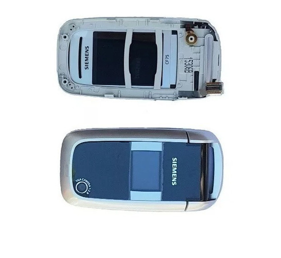 Lcd Com Câmera E Carcaça Celular Siemens Cf-75